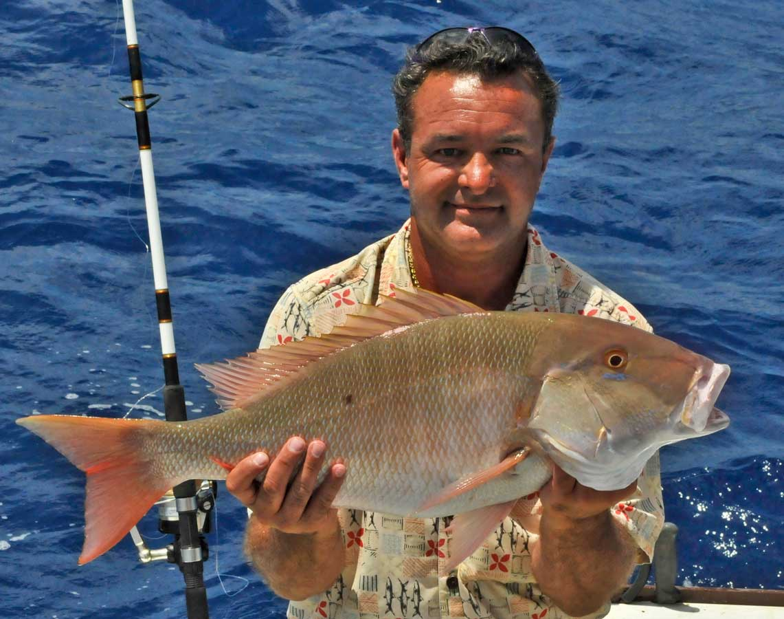 Eric Madinger pulled this Mutton Snapper off a wreck in the waters of Islamorada FL
