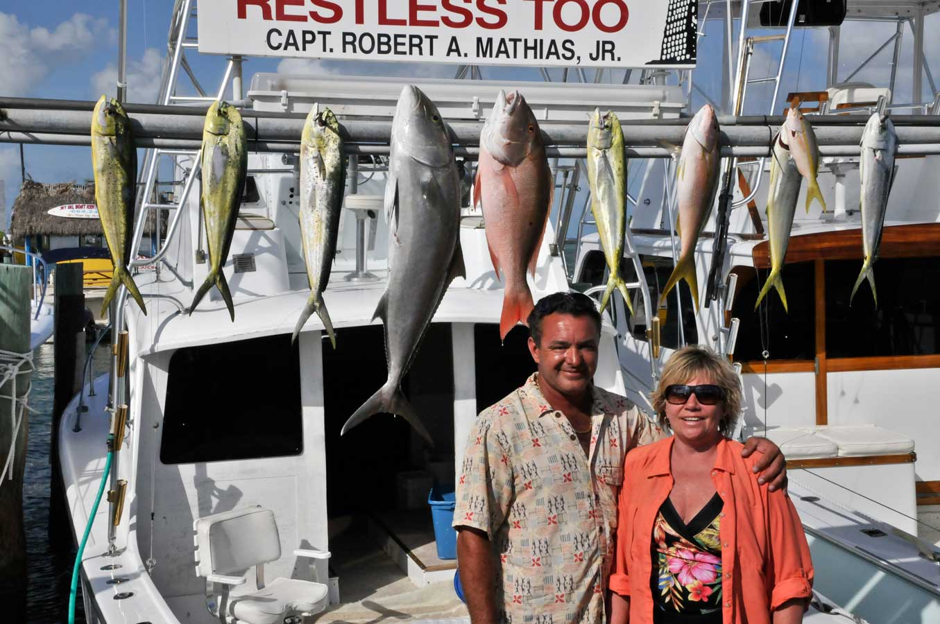 A good variety of fish for Eva and Eric from St. George Island FL who were great anglers!